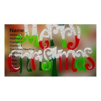 Una tarjeta de visita de las Felices Navidad muy