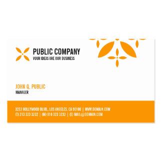 Una tarjeta de visita echada a un lado corporativa