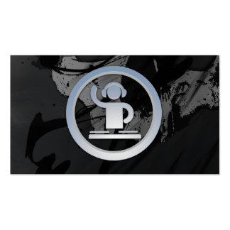 Una tarjeta de visita fresca del icono de DJ 3d de