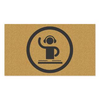 Una tarjeta de visita fresca del icono de DJ de la