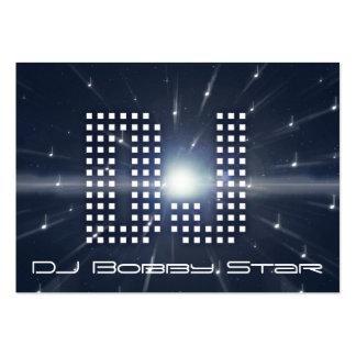 Una tarjeta de visita fresca del spacewarp de DJ