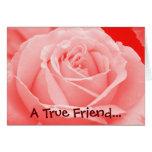 Una tarjeta del amigo verdadero