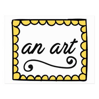 Una tarjeta del arte tarjetas postales