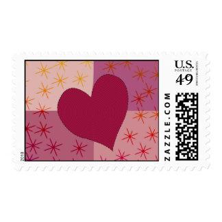 Una tarjeta del día de San Valentín del corazón Sello