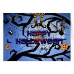 Una tarjeta del feliz Halloween de la diversión