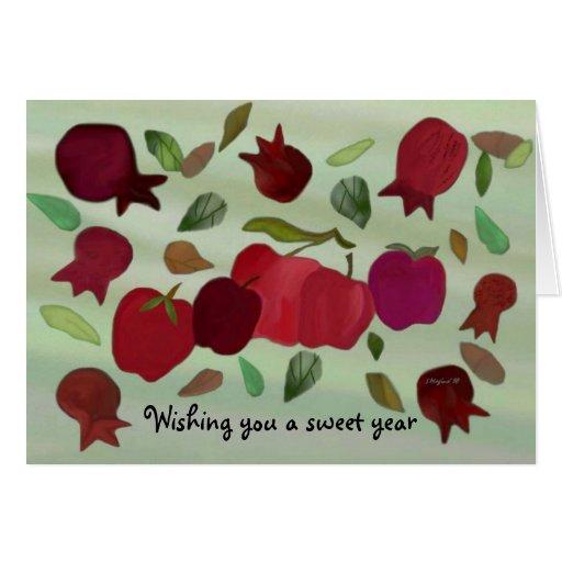 Una tarjeta dulce del año