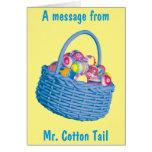 Una tarjeta especial del mensaje de Pascua