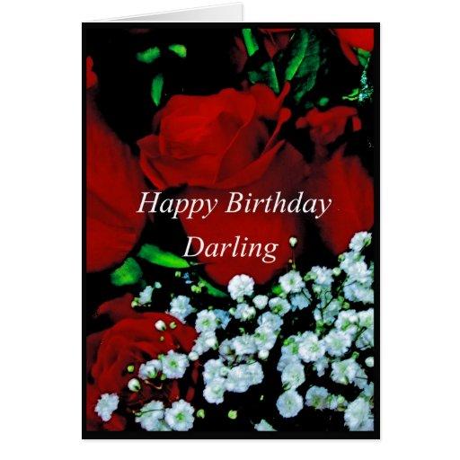 Una tarjeta feliz del querido de Birrthday