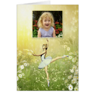 Una tarjeta hermosa del bailarín de ballet