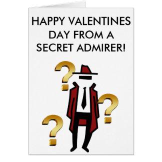 Una tarjeta honesta del día de San Valentín de un