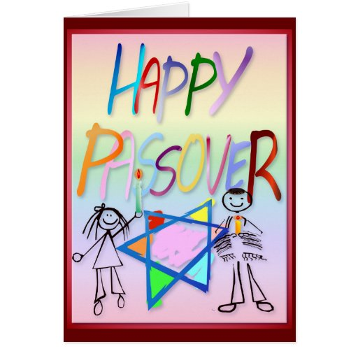 Una tarjeta muy colorida del Passover