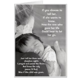 Una tarjeta para dos madres cariñosas
