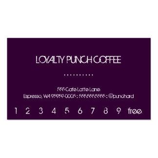 Una tarjeta perforada del café de la lealtad tarjetas de visita