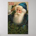 Una tarjeta vieja del St. Nick de las Felices Navi Posters