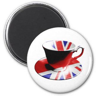 Una taza agradable de té inglés imán de nevera