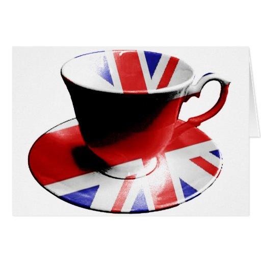 Una taza agradable de té inglés tarjeta de felicitación