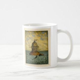 Una taza con un cosmología tonto en él