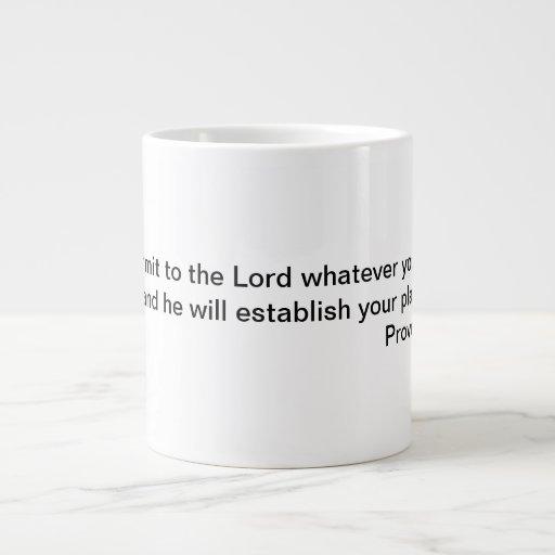 Una taza con una escritura de la biblia taza grande