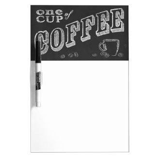 una taza de ARTE de la TIZA del café Pizarras Blancas De Calidad