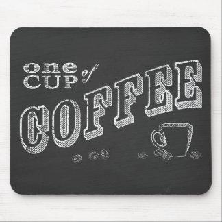 una taza de ARTE de la TIZA del café Mouse Pad