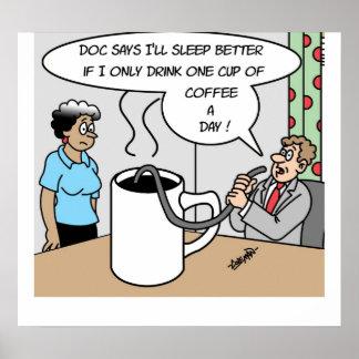 Una taza de café al día impresiones