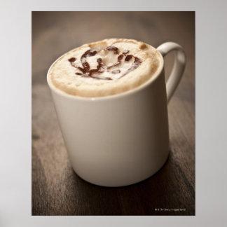 Una taza de café del Cappuccino remató con Póster