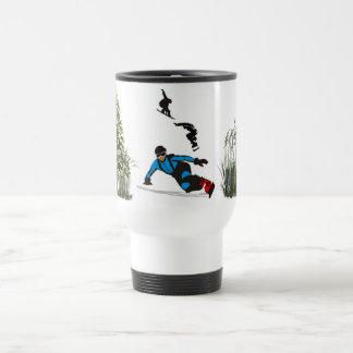 Una taza de café del viaje del acero inoxidable de