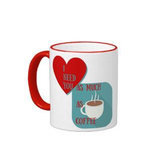 Una taza de café que muestra sus deseos
