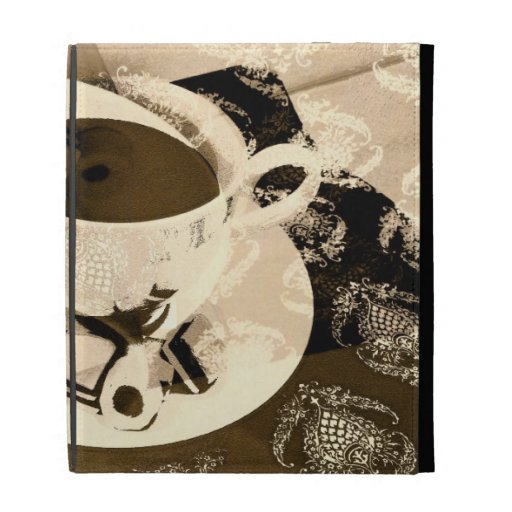 una taza de café y de caja de los dulces
