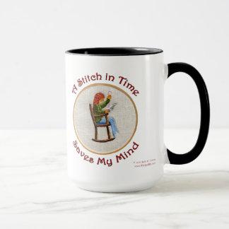 Una taza de la puntada a tiempo