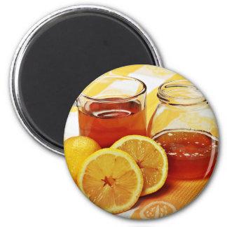 Una taza de té imán redondo 5 cm