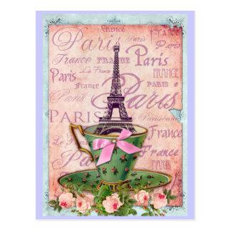 Una taza de viaje Eiffel Tarjetas Postales