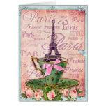 Una taza de viaje Eiffel Tarjeton