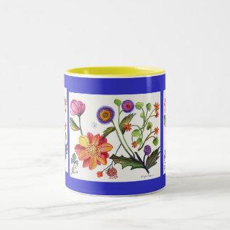 Una taza especial del jardín de flores del día