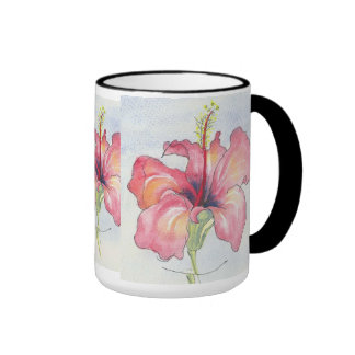 Una taza floral bonita
