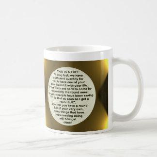 Una taza redonda del ~ de Tuit