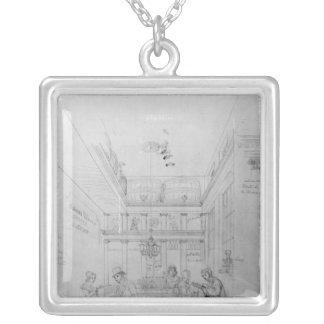 Una tienda del licor de Londres, 1839 Colgante Cuadrado