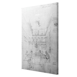 Una tienda del licor de Londres, 1839 Lona Estirada Galerías