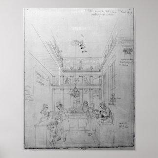 Una tienda del licor de Londres, 1839 Poster