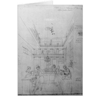 Una tienda del licor de Londres, 1839 Tarjeton