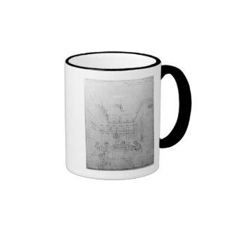 Una tienda del licor de Londres, 1839 Tazas De Café