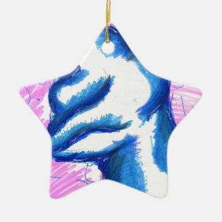 Una tierra de la transformación topológica adorno navideño de cerámica en forma de estrella
