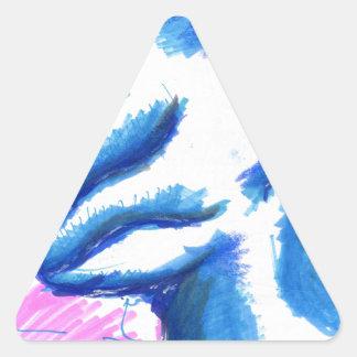 Una tierra de la transformación topológica pegatina triangular