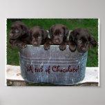 Una tina de la imagen del chocolate impresiones