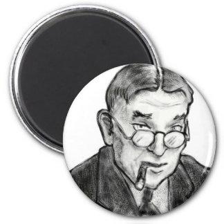 Una tinta bosquejó al Wretch: H.L. Mencken Imán Redondo 5 Cm
