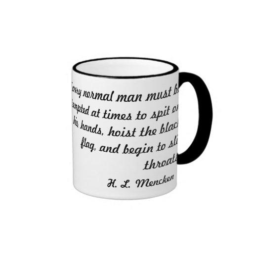 Una tinta bosquejó al Wretch: H.L. Mencken Taza