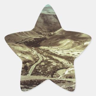 Una tormenta de desierto calcomanías forma de estrella