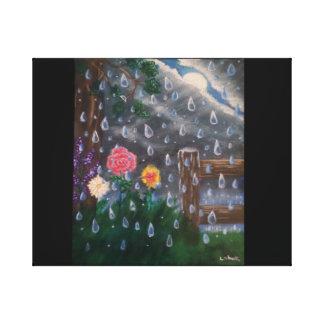 Una tormenta de la lluvia ligera impresión en lienzo
