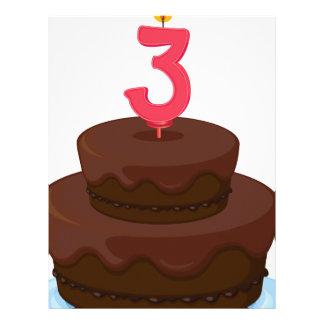 una torta de cumpleaños membrete a diseño