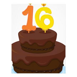 una torta de cumpleaños membrete personalizado